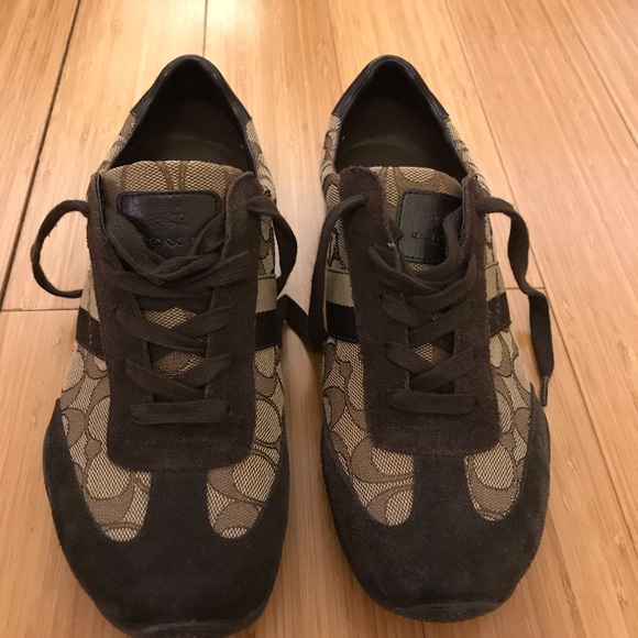 Coach Shoes - Coach brown sneakers